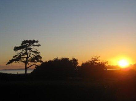 Sunset of Muriau, Criccieth, Gwynedd LL52