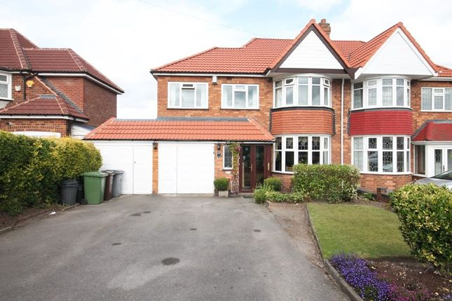 Thumbnail Semi-detached house for sale in Lyndon Road, Solihull