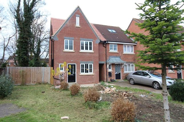 Thumbnail End terrace house for sale in Moore Crescent, Houghton Regis, Dunstable