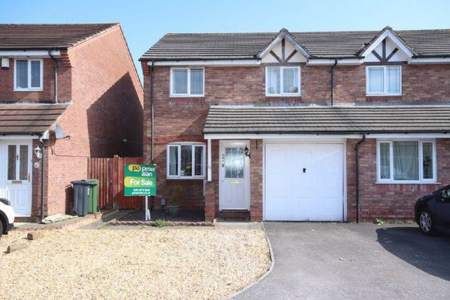 Thumbnail Semi-detached house for sale in Aston Place, St. Mellons, Cardiff