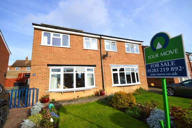 Thumbnail Semi-detached house for sale in Tudor Way, Newhall, Swadlincote