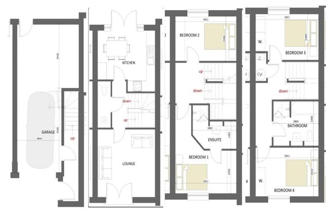 Thumbnail Terraced house for sale in The Maltby Hardy Street, Kimberley, Nottingham