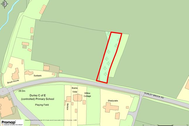Site Plan of Durley Brook Road, Durley, Southampton SO32