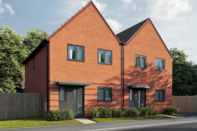 """Thumbnail End terrace house for sale in """"The Eveleigh"""" at Parsonage Close, Highfields Caldecote, Cambridge"""