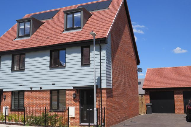 Thumbnail Semi-detached house for sale in Malpass Drive, Leybourne Chase, West Malling