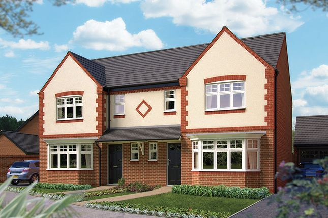 "Thumbnail Semi-detached house for sale in ""The Lichfield"" at Harbury Lane, Heathcote, Warwick"