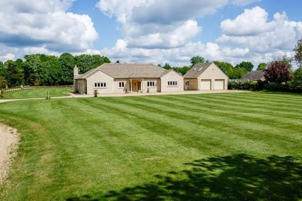 Thumbnail Detached bungalow for sale in 37 West End Road, Maxey, Peterborough