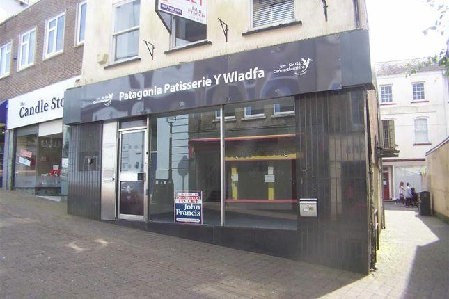 Thumbnail Retail premises to let in Hall Street, Carmarthen