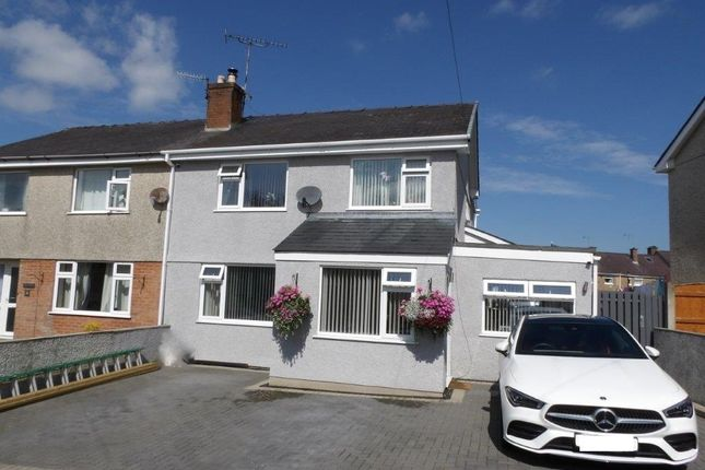 Thumbnail Semi-detached house for sale in Y Bryn, Bontnewydd, Caernarfon, Gwynedd