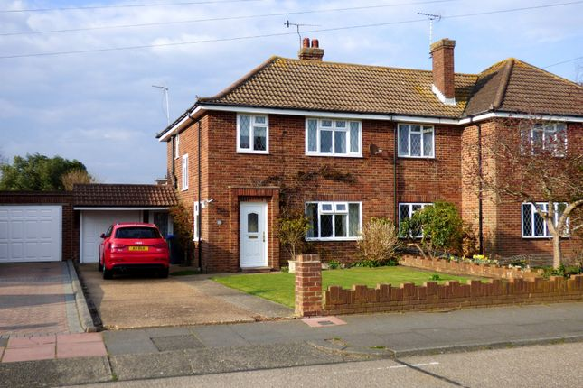 Thumbnail Semi-detached house for sale in Bolsover Road, Goring-By-Sea, Worthing