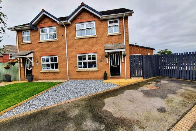 Thumbnail Semi-detached house for sale in The Paddocks, Thursby, Carlisle