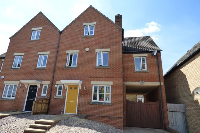 Thumbnail End terrace house for sale in Adelante Close, Stoke Gifford, Bristol