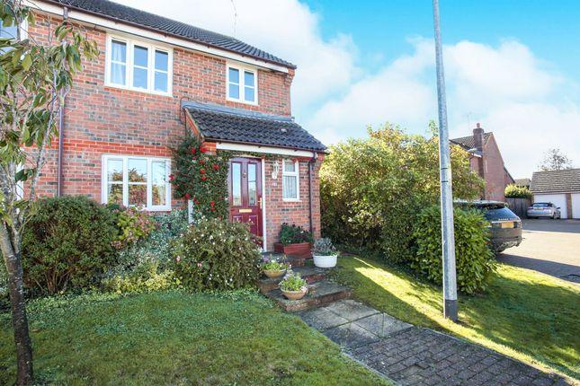 Thumbnail Semi-detached house for sale in Mossman Drive, Caddington, Luton