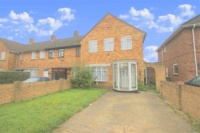 Thumbnail End terrace house to rent in The Larches, Uxbridge, Middlesex