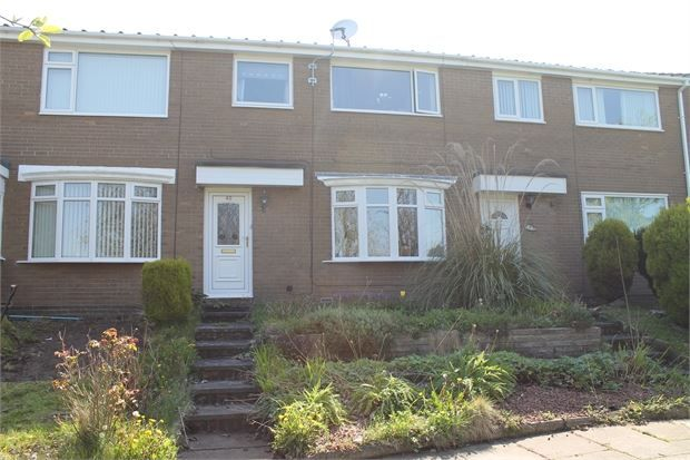 Thumbnail Terraced house for sale in Leasyde Walk, Whickham, Newcastle Upon Tyne.