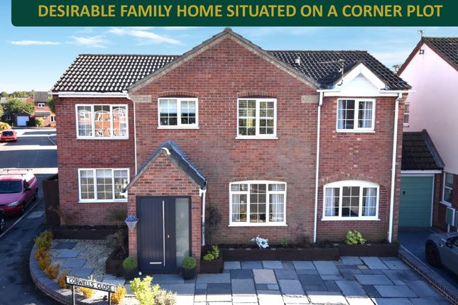 Thumbnail Detached house for sale in Cobwells Close, Fleckney, Leicester
