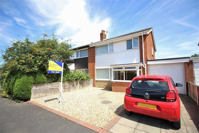 Thumbnail Semi-detached house for sale in Barnfield, Much Hoole, Preston