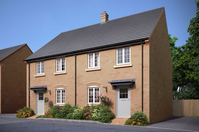 """Thumbnail Semi-detached house for sale in """"The Melford"""" at Bedford Road, Great Barford, Bedford"""