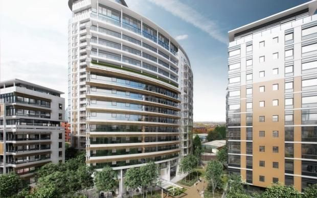 Thumbnail Flat for sale in The Quays, Salford