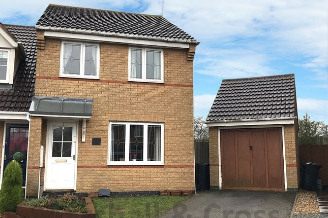 Thumbnail End terrace house for sale in Bourton Way, Wellingborough, Northamptonshire.