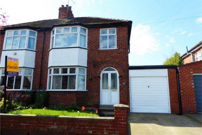 Thumbnail Semi-detached house for sale in Glebe Avenue, Off Boroughbridge Road, York