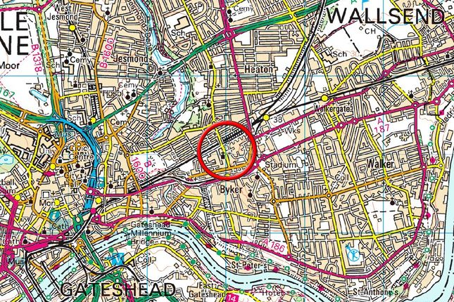 Location Map of Cragside House, Heaton Road, Newcastle Upon Tyne NE6