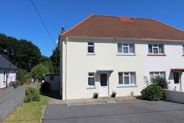 Thumbnail Semi-detached house for sale in Bro Grannell, Llanwnnen, Lampeter