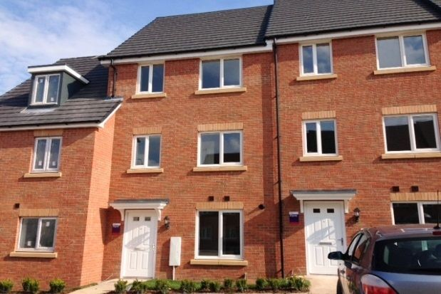 Thumbnail Town house to rent in Nickleby Close, Rugby