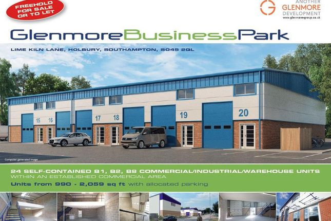 Thumbnail Warehouse to let in Glenmore Business Park, Lime Kiln Lane, Holbury, Southampton, Hampshire