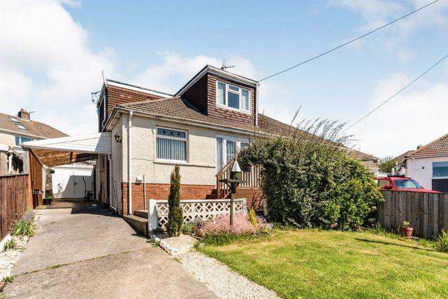 Thumbnail Semi-detached bungalow for sale in Derwen Close, Bridgend
