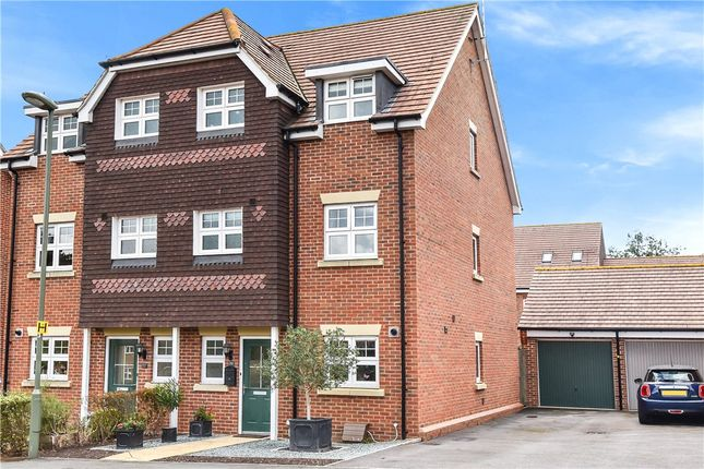Thumbnail Semi-detached house for sale in Waterers Way, Bagshot, Surrey