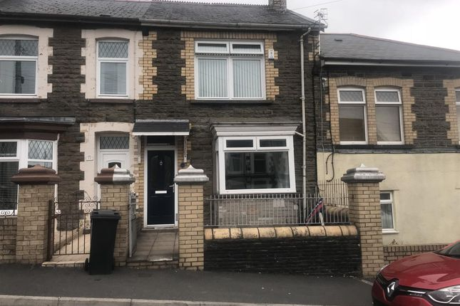 Thumbnail Terraced house to rent in Treharne Road, Edwardsville, Treharris