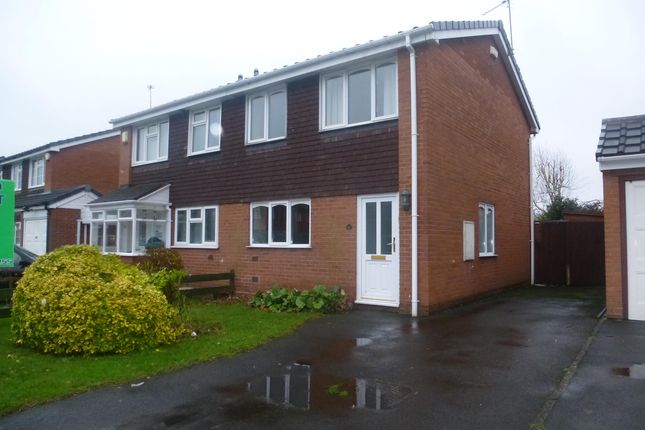 Thumbnail Semi-detached house to rent in Belmont Close, Tipton