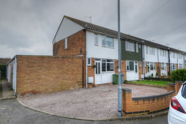 Thumbnail End terrace house for sale in Meadow Close, Norwich