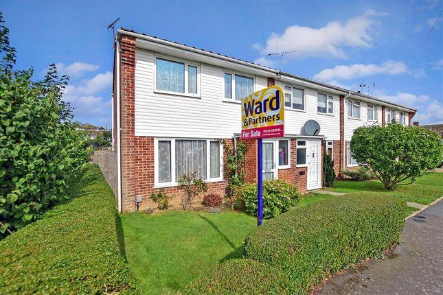 Thumbnail End terrace house for sale in Belmont Road, Kennington, Ashford, Kent