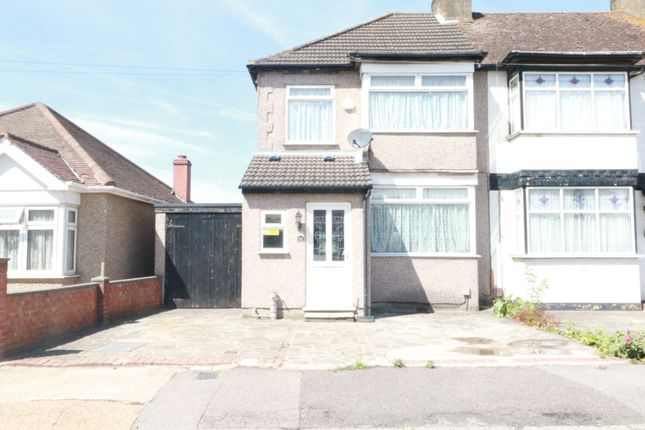 Thumbnail End terrace house to rent in Lower Mardyke Avenue, Rainham, Essex