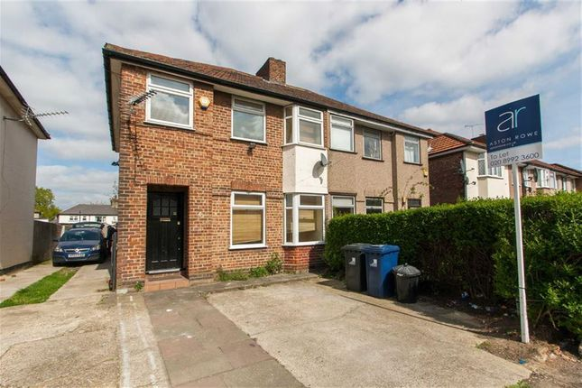 Thumbnail Semi-detached house to rent in Sunningdale Avenue, London