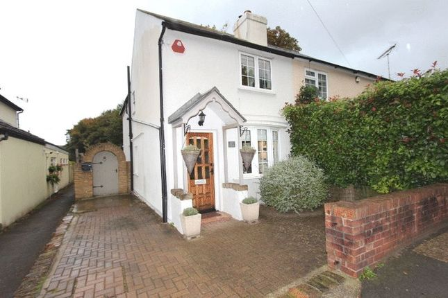 Thumbnail Semi-detached house for sale in Downs Road, Belmont, Surrey