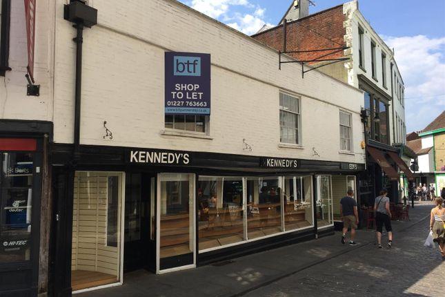 Thumbnail Retail premises to let in Sun Street, Canterbury