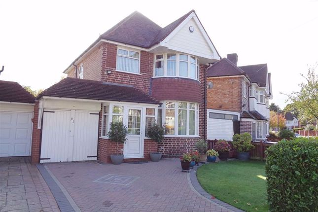 Thumbnail 3 bed detached house for sale in Charminster Avenue, Yardley, Birmingham