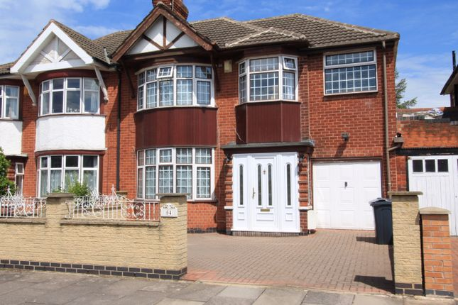 Thumbnail Semi-detached house to rent in Romway Road, Leicester