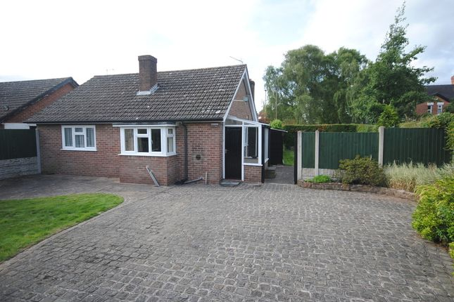 Thumbnail Detached bungalow to rent in Shrewsbury Road, Market Drayton