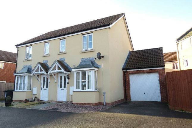 Thumbnail Semi-detached house for sale in Buckle Path, West Wick, Weston-Super-Mare