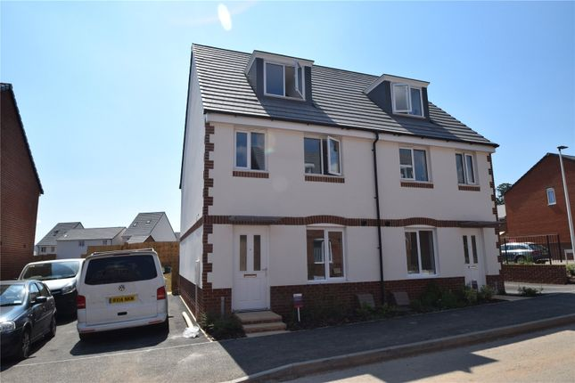 Thumbnail Semi-detached house to rent in Gale Way, Tiverton, Devon