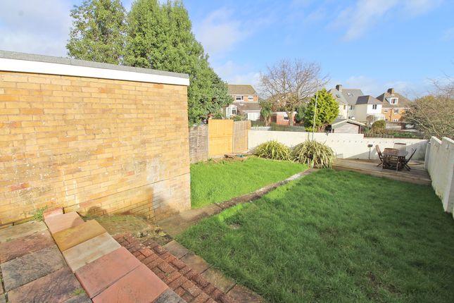 Rear Garden of Lalebrick Road, Hooe, Plymouth, Devon PL9