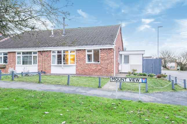 Thumbnail Semi-detached bungalow for sale in Mount View, Great Glen, Leicester