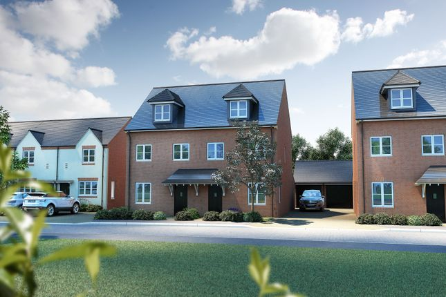 "Thumbnail Semi-detached house for sale in ""The Acton"" at Oakley Wood Road, Bishops Tachbrook, Leamington Spa"