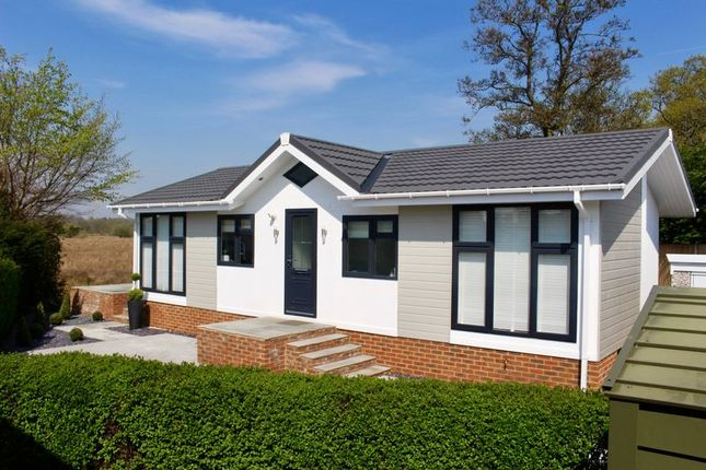 Thumbnail Mobile/park home for sale in Barataria Park, Ripley, Woking