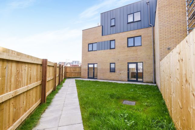 Thumbnail End terrace house for sale in Watkiss Way, Cardiff Bay, Cardiff