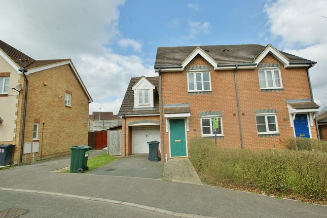 Thumbnail Semi-detached house to rent in Lodge Wood Drive, Ashford